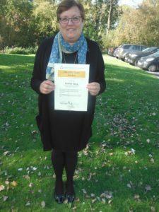 Award winner, Lesley Lees, Warwickshire County Council