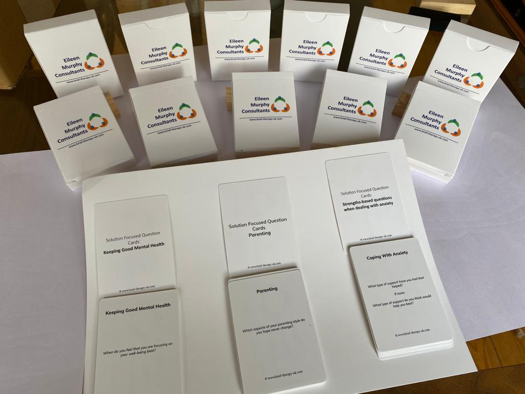 Solution focused cards by Brief Therapy Uk